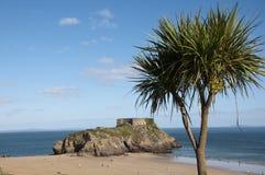 Fortificazione dell'isola della st Catherines a Tenby nel Galles del sud Fotografia Stock Libera da Diritti