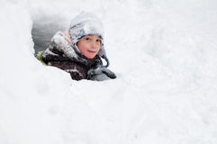 Fortificazione della neve Immagini Stock