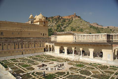 Fortificazione di ambra, Ragiastan Fotografia Stock