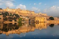 Fortificazione di Amer Amber, Ragiastan, India Immagini Stock