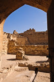 Fortificazione di Arad/Qal'at Arad immagine stock