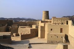Fortificazione di Bahla Fotografia Stock Libera da Diritti