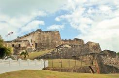 Fortificazione di bal del ½ del ¿ di Castillo San Cristï a San Juan, Porto Rico - 3/9/2017 dei turisti visita la fortificazione a Fotografie Stock Libere da Diritti