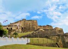 Fortificazione di bal del ½ del ¿ di Castillo San Cristï a San Juan, Porto Rico - 3/9/2017 dei turisti visita la fortificazione a Fotografie Stock