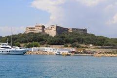 Fortificazione di Carré a Antibes Fotografia Stock