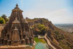 Fortificazione di Chittorgarh, Ragiastan, India Fotografie Stock Libere da Diritti