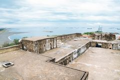Fortificazione di Cihou nell'isola di Cijin, Kaohsiung, Taiwan Fotografia Stock Libera da Diritti