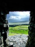 Fortificazione di Dún Aonghasa fotografie stock libere da diritti