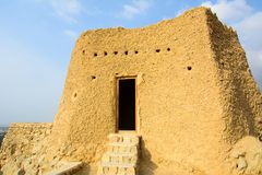 Fortificazione di Dhayah in Ras Al Khaimah United Arab Emirates del nord Immagini Stock