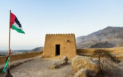 Fortificazione di Dhayah in Ras Al Khaimah United Arab Emirates del nord fotografia stock libera da diritti