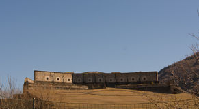 fortificazione 153_The di Exilles fotografie stock libere da diritti