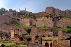 Fortificazione di Golconda Immagine Stock