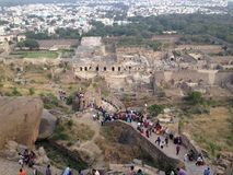 Fortificazione di Goloconda Immagini Stock