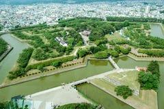 Fortificazione di Goryokaku fotografie stock libere da diritti