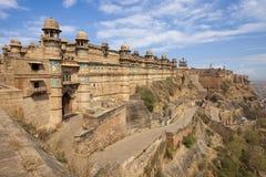 Fortificazione di Gwalior in India. fotografie stock libere da diritti