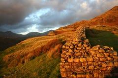Fortificazione di Hardknott in Cumbria fotografie stock