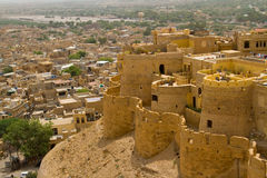 Fortificazione di Jaisalmer nel Ragiastan, India Fotografia Stock