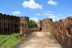 Fortificazione di Jaygarh a Jaipur. Fotografia Stock