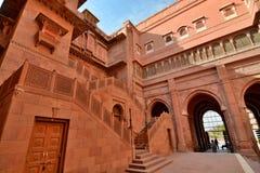 Fortificazione di Junagarh Bikaner Il Ragiastan L'India Immagine Stock Libera da Diritti