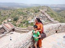 Fortificazione di Kumbalgarh fotografie stock