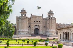 Fortificazione di Lahore, Lahore, Punjab, Pakistan fotografia stock libera da diritti