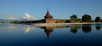 Fortificazione di Mandalay fotografia stock