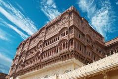 Fortificazione di Meharangarh Fotografie Stock
