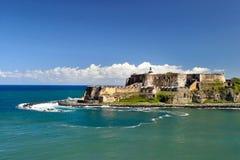 Fortificazione di morro di EL a vecchio San Juan, Porto Rico   Fotografia Stock