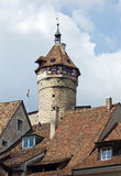 Fortificazione di Munot (Schaffhausen, Svizzera) fotografie stock libere da diritti