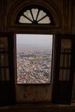 Fortificazione di Nahagarh jaipur L'India fotografie stock