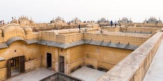 Fortificazione di Nahargah, Jaipur, Ragiastan, India Fotografia Stock Libera da Diritti