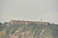 Fortificazione di Nahargarh, Jaipur, Ragiastan fotografia stock