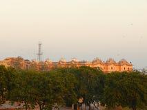 Fortificazione di Nahargarh o Tiger Fort dalla distanza, Jaipur, Ragiastan, India fotografia stock