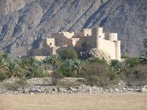 Fortificazione di Nakhal, Oman immagini stock