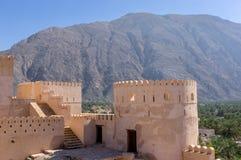 Fortificazione di Nakhl, Oman fotografia stock
