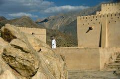 Fortificazione di Naklah, Oman Fotografia Stock Libera da Diritti