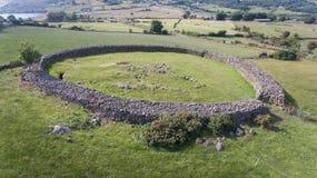 Fortificazione di pietra di Drumena Castlewellan contea giù L'Irlanda del Nord immagini stock libere da diritti