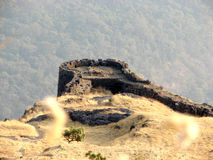 Fortificazione di Rajmachi Fotografia Stock