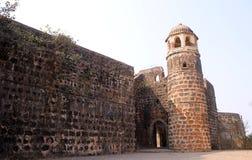 Fortificazione di Shirgaon, India fotografie stock libere da diritti