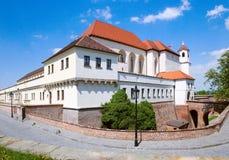 Fortificazione di Spilberk e prigione medievali, città Brno, Moravia, rappresentante ceco Fotografie Stock