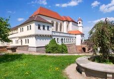 Fortificazione di Spilberk e prigione medievali, città Brno, Moravia, rappresentante ceco Immagine Stock Libera da Diritti