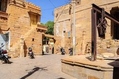 Fortificazione dorata di Jaisalmer, Ragiastan India Fotografia Stock