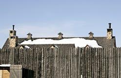Fortificazione e tetto Fotografia Stock
