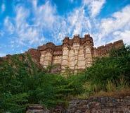 Fortificazione famosa di Mehrangarh a Jodhpur, India immagine stock