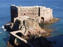 Fortificazione. Grande isola di Berlenga. Il Portogallo Fotografia Stock