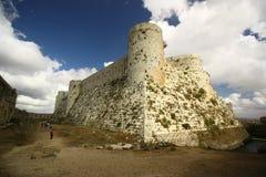 Fortificazione interna ai Chevaliers del DES di Krak, Siria Immagini Stock Libere da Diritti