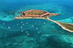 Fortificazione Jefferson - sosta nazionale asciutta di Tortugas Immagini Stock Libere da Diritti