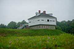 FORTIFICAZIONE MCCLARY, fortificazione dei militari di Kittery Maine 1844 Fotografia Stock