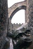 Fortificazione medievale Fotografia Stock