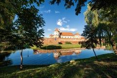 Fortificazione medievale circondata da acqua Immagine Stock Libera da Diritti